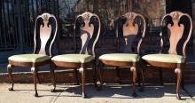Four Queen Anne Style Shield back Chairs