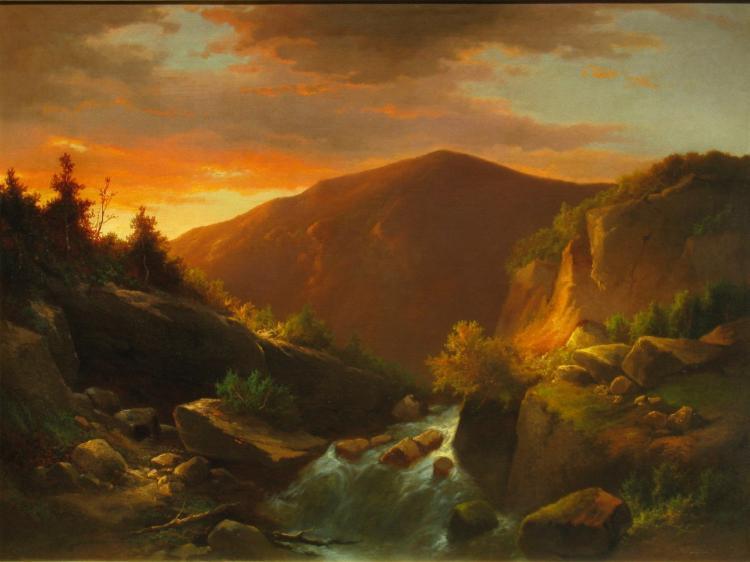 Romantic Landscape, Hudson River School,