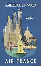 Air France / Amerique du Nord. 1948