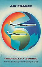 Air France / Caravelle & Boeing. 1961