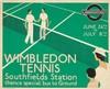 London Underground / Wimbledon Tennis. 1933, André Edouard Marty, $2,000