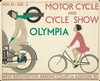 London Underground / Motorcycle & Cycle Show. 1933, André Edouard Marty, $1,400