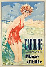 Cabourg (Normandie) Plage d'Elite 1929