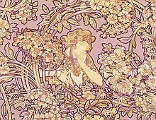 Femme Parmi Les Fleurs. ca. 1900