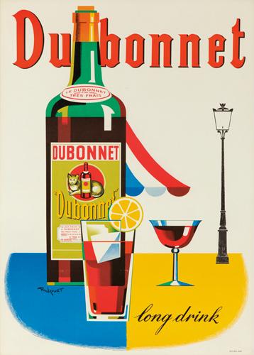 Dubonnet / Long Drink. ca. 1960. Rare Poster