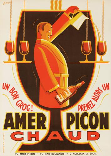 Amer Picon. ca. 1930. Rare Poster