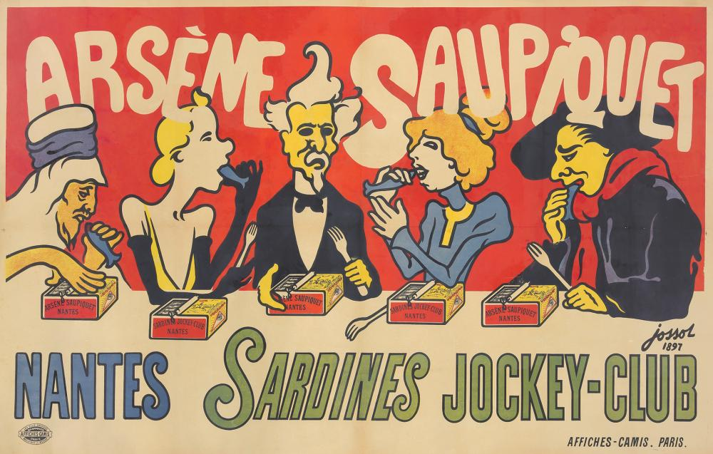 Saupiquet Sardines. 1897.