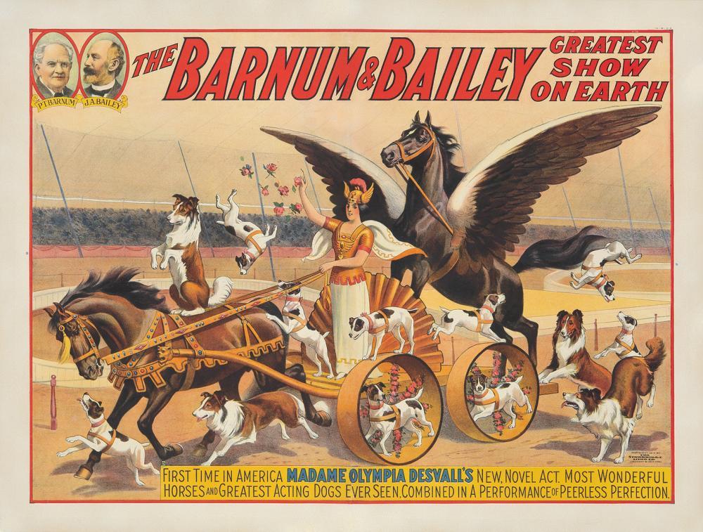 Barnum & Bailey / Madame Olympia Desvall. 1914.