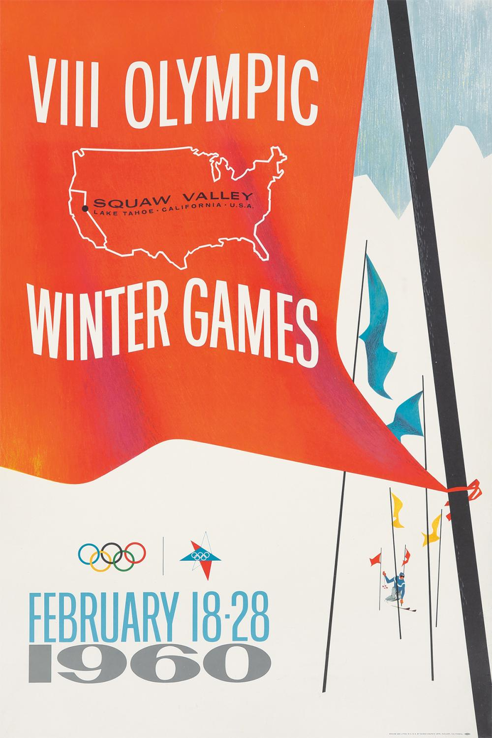 Squaw Valley 1960 Winter Olympics. 1959.