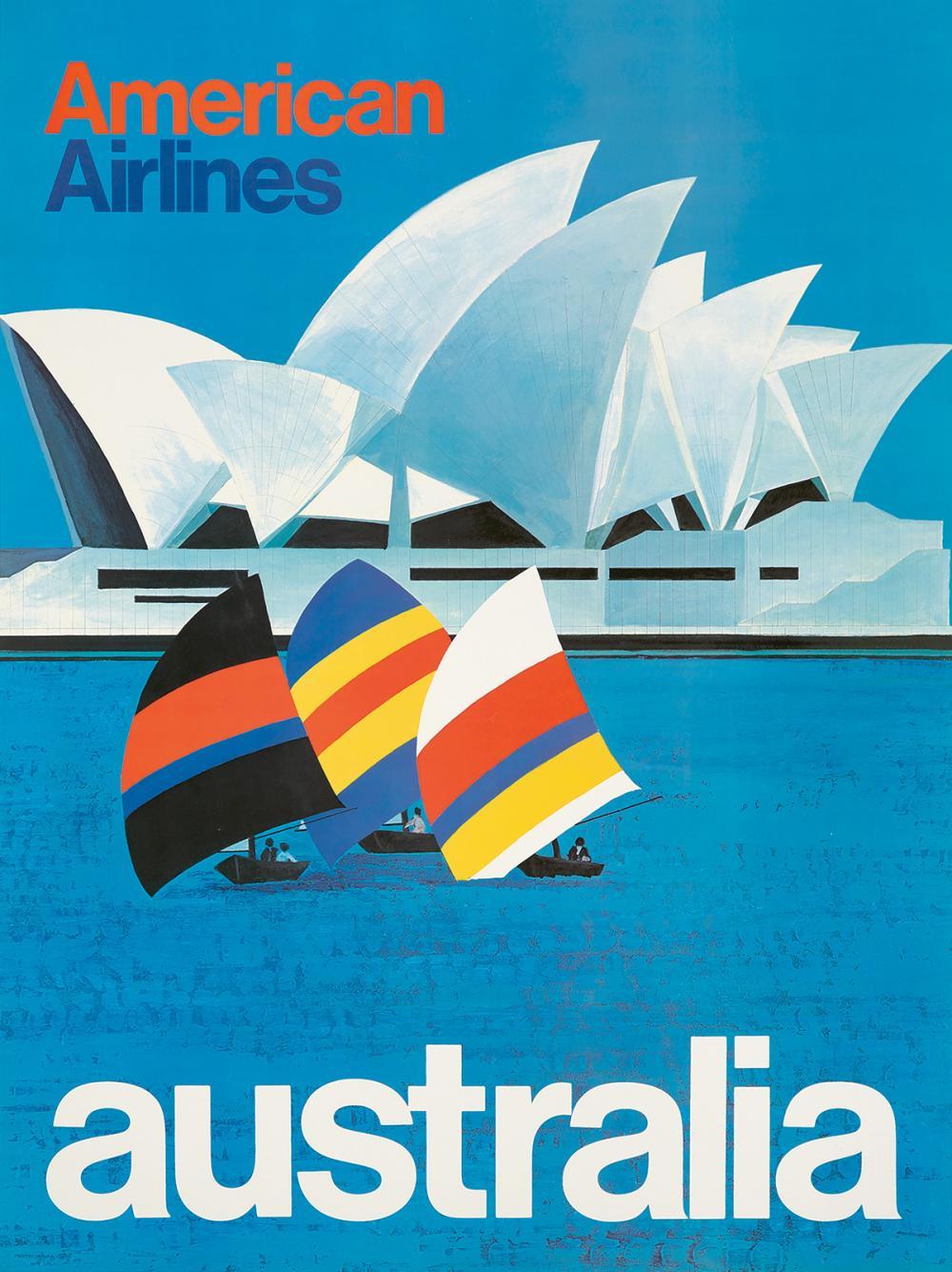 American Airlines / Australia. ca. 1969.