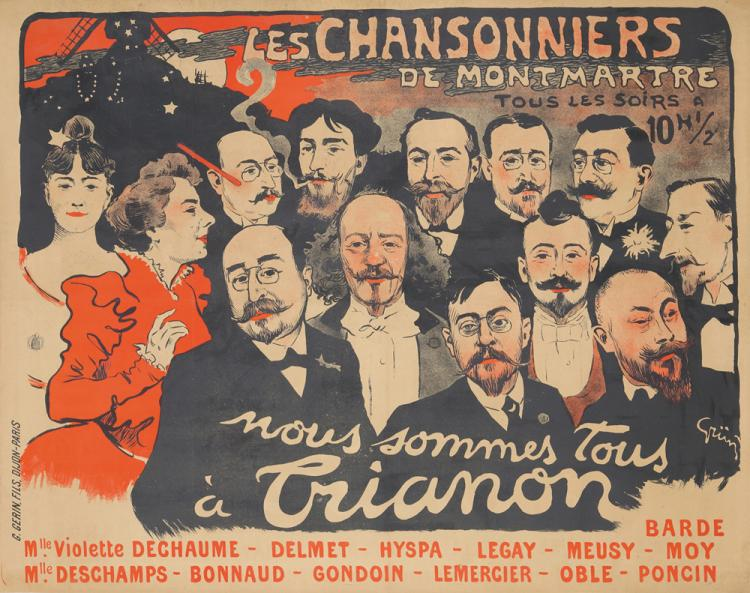 Les Chansonniers de Montmartre. 1897