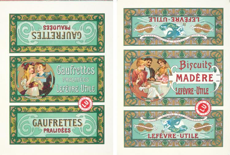 Lefèvre-Utile: 3 Box Tops.