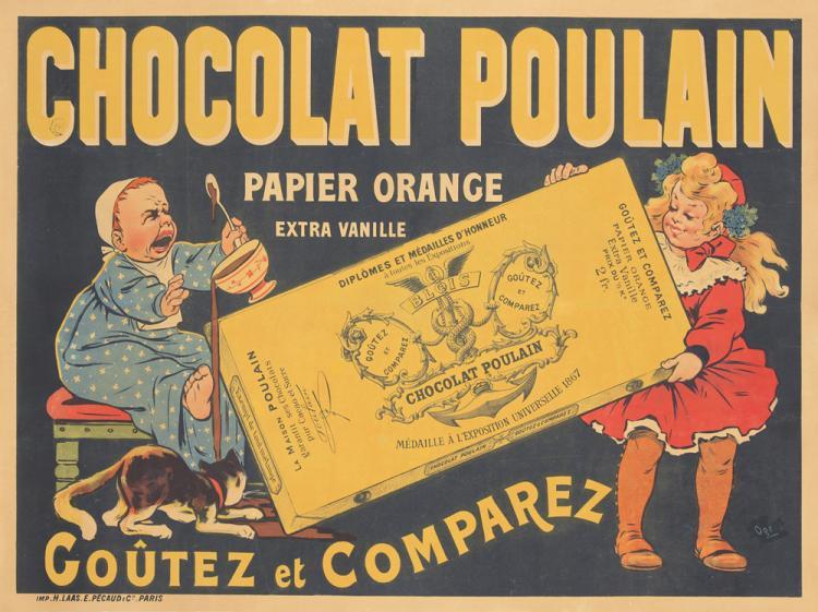 Chocolat Poulain. ca. 1893
