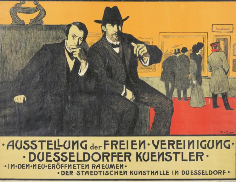 Ausstellung der Freien Vereinigung Duesseldorfer Kuenstler. ca. 1891