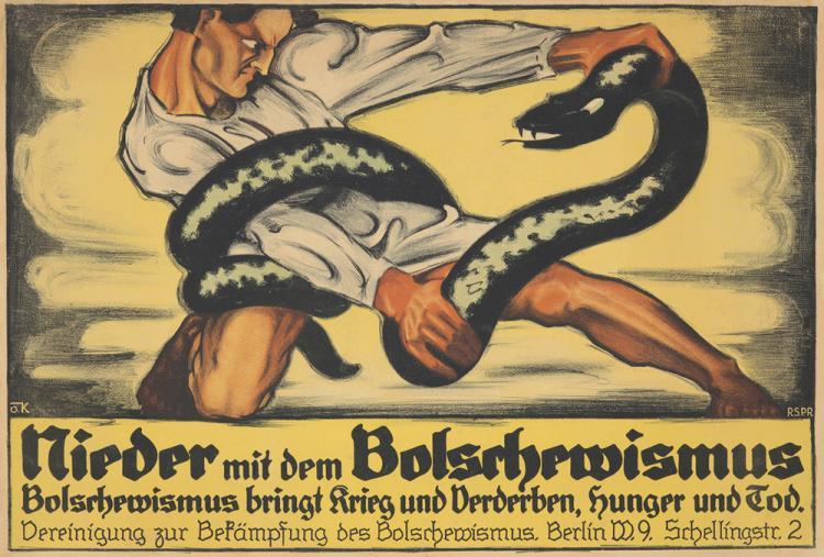 Nieder mit dem Bolschewismus. 1918