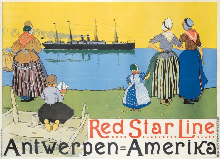 Red Star Line / Antwerpen-Amerika. ca. 1899