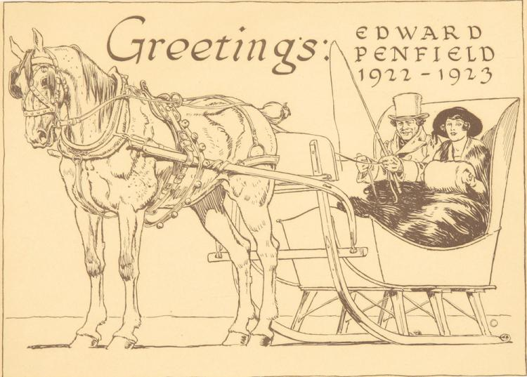 Greetings: Edward Penfield 1922–1923. 1922
