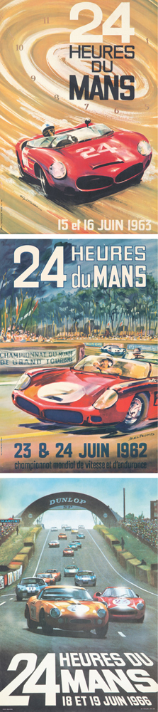 Collection of 45 Le Mans Posters. 1957-1989
