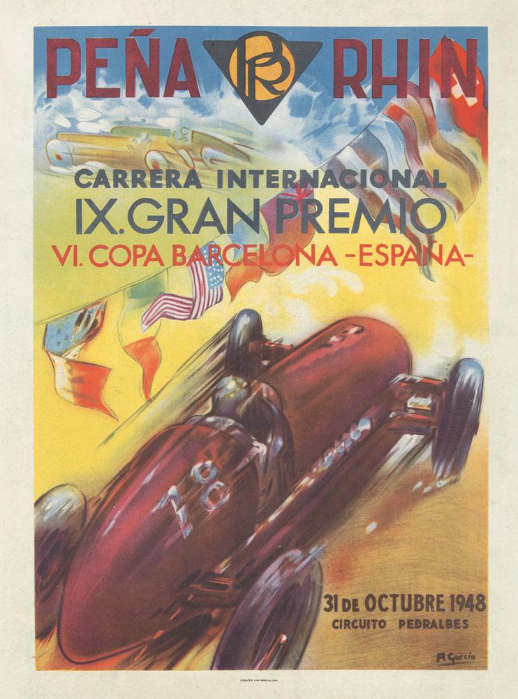 Peña Rhin / IX Gran Premio. 1948