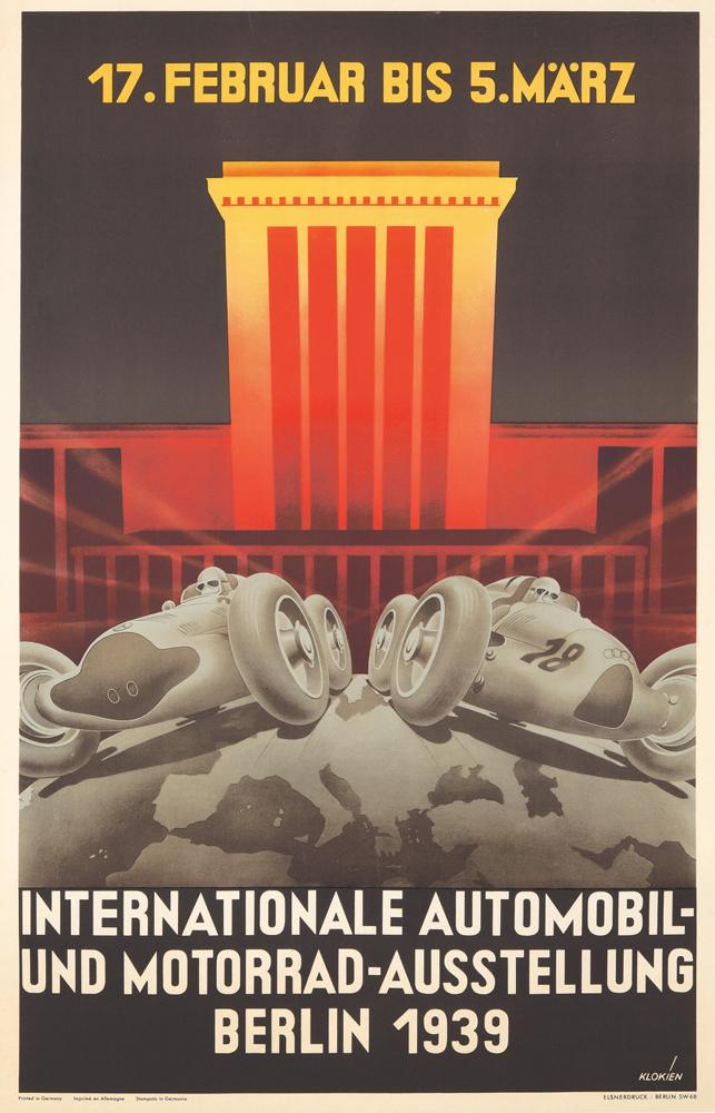 Internationale Automobil und Motorrad Ausstellung. 1939