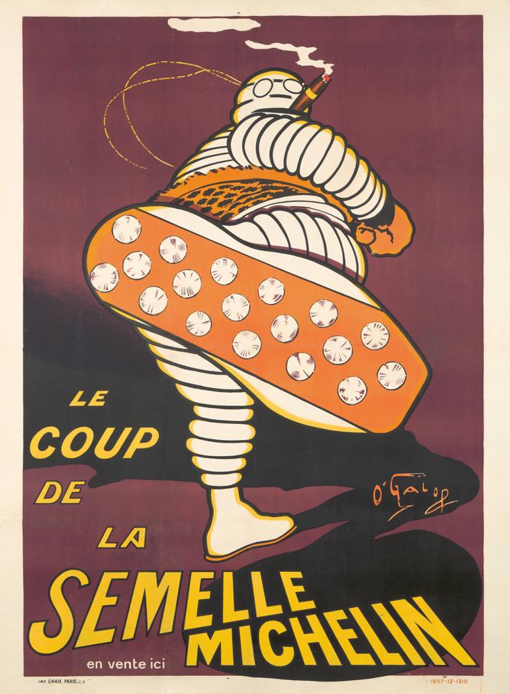Le Coup de la Semelle Michelin. 1913