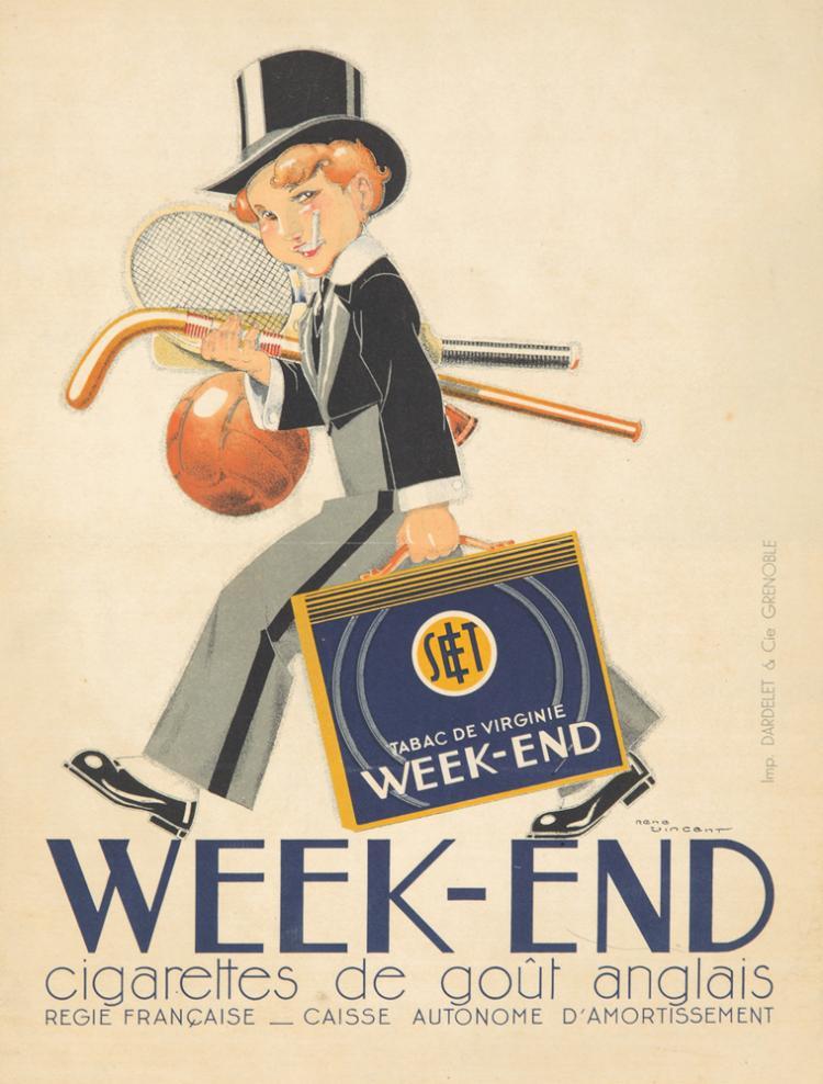 Week-End Cigarettes. ca. 1910