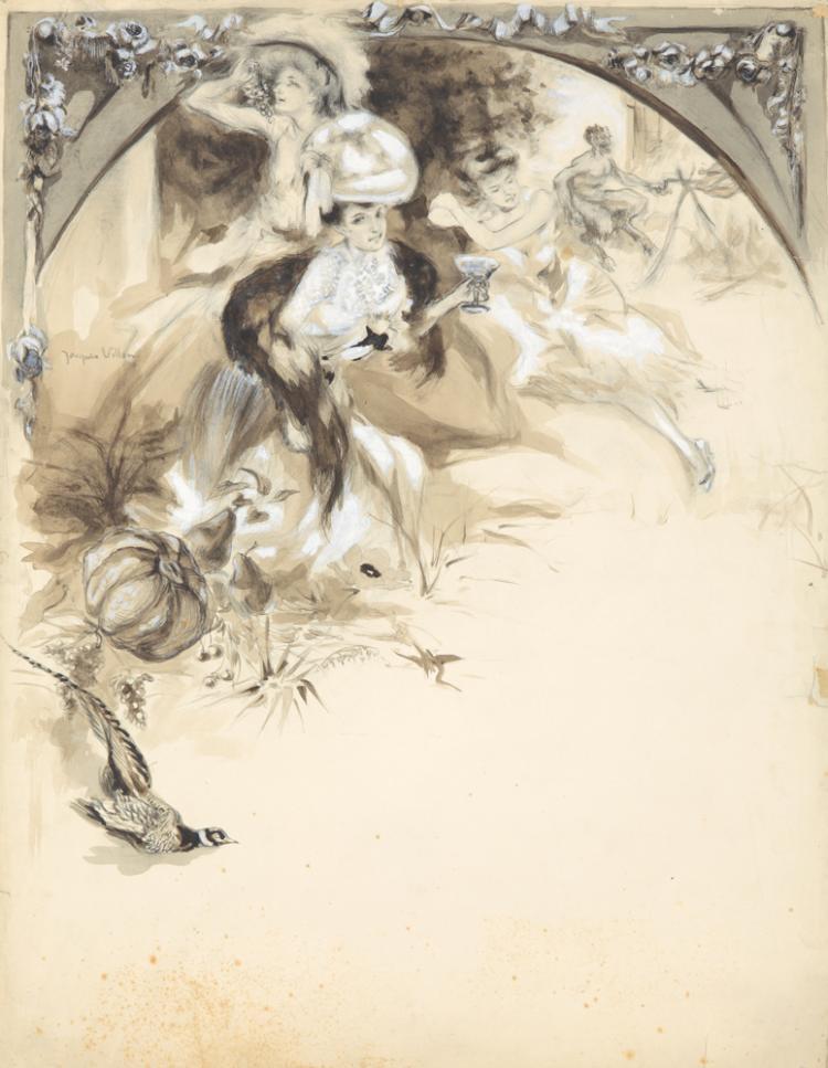 Menu: Artwork & Ephemera. ca. 1900