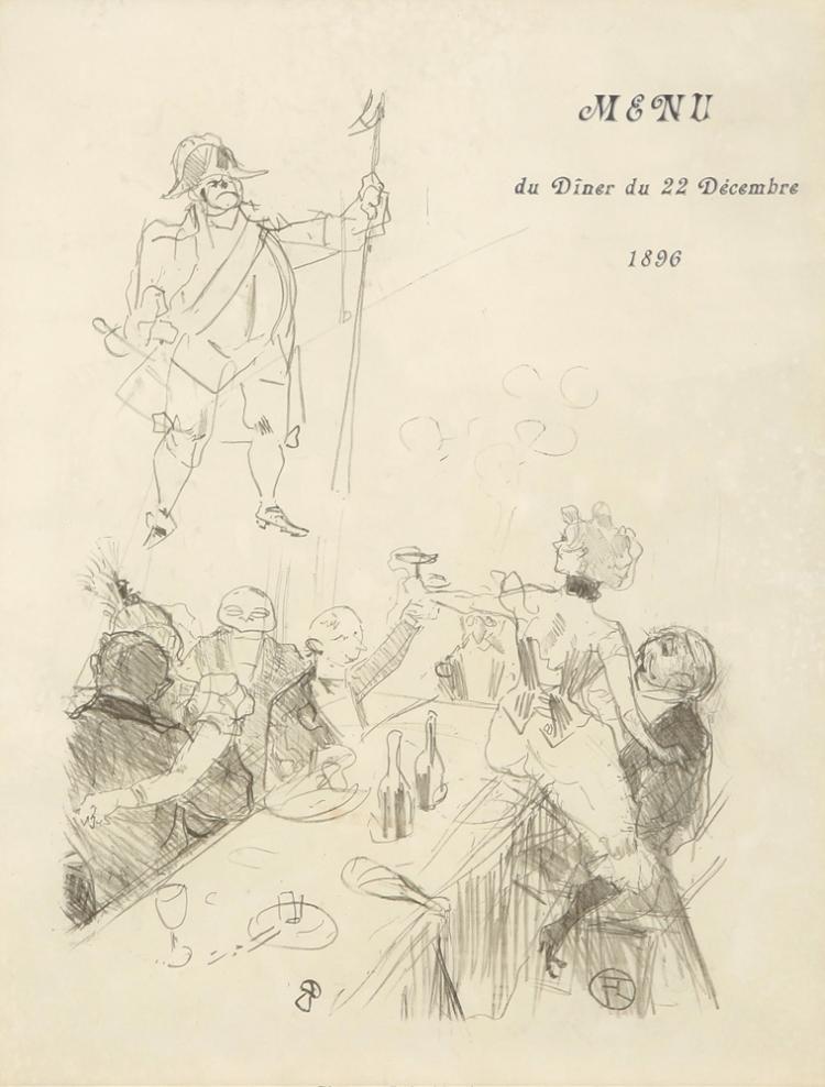 Le Suisse: Menu du Diner du 22 Decembre 1896. 1896