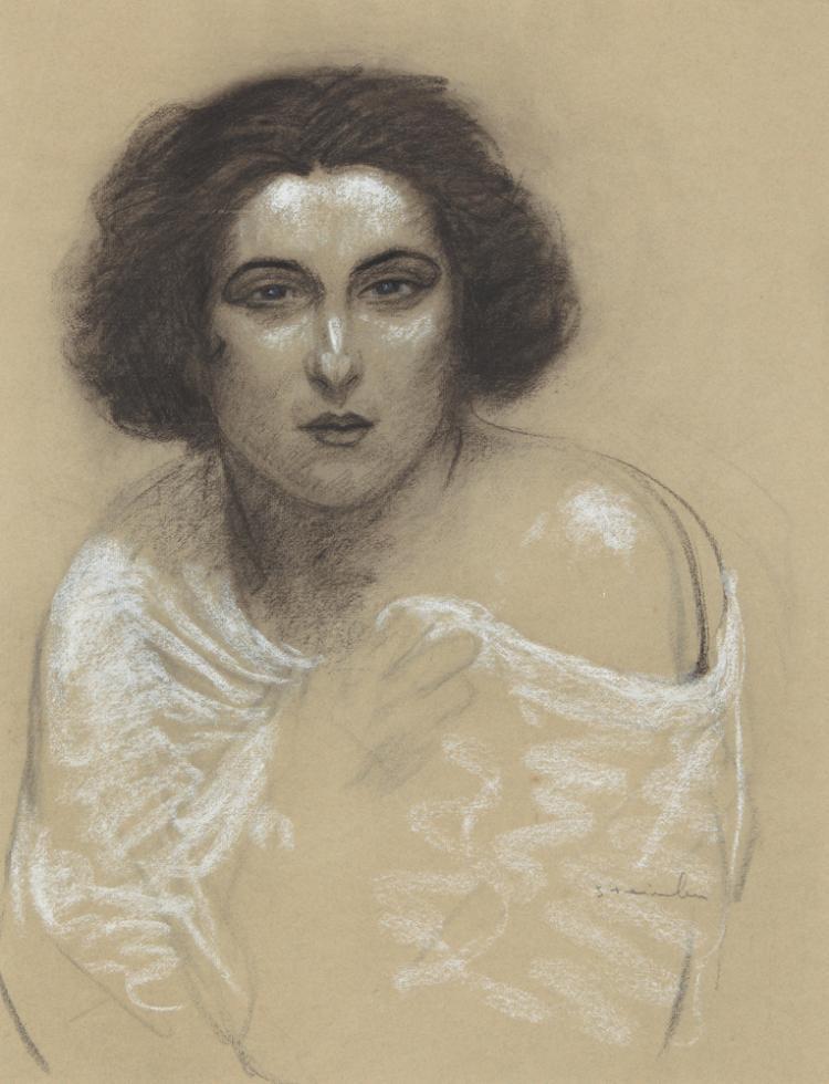 Femme avec Châle. ca. 1918