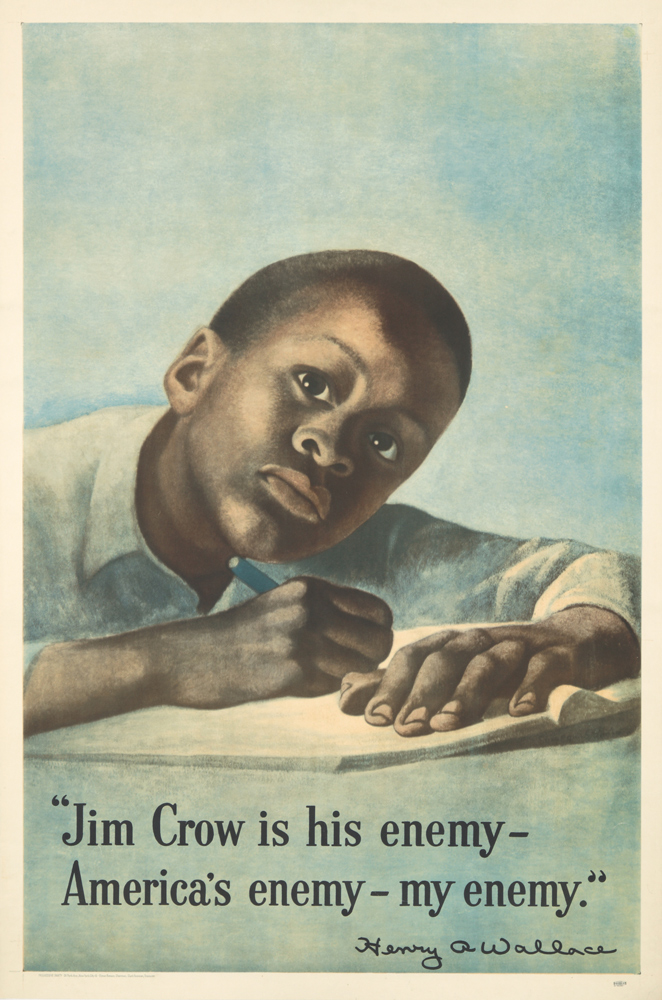 Jim Crow is His Enemy. 1948