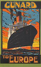 Cunard to Europe / Berengaria. 1921