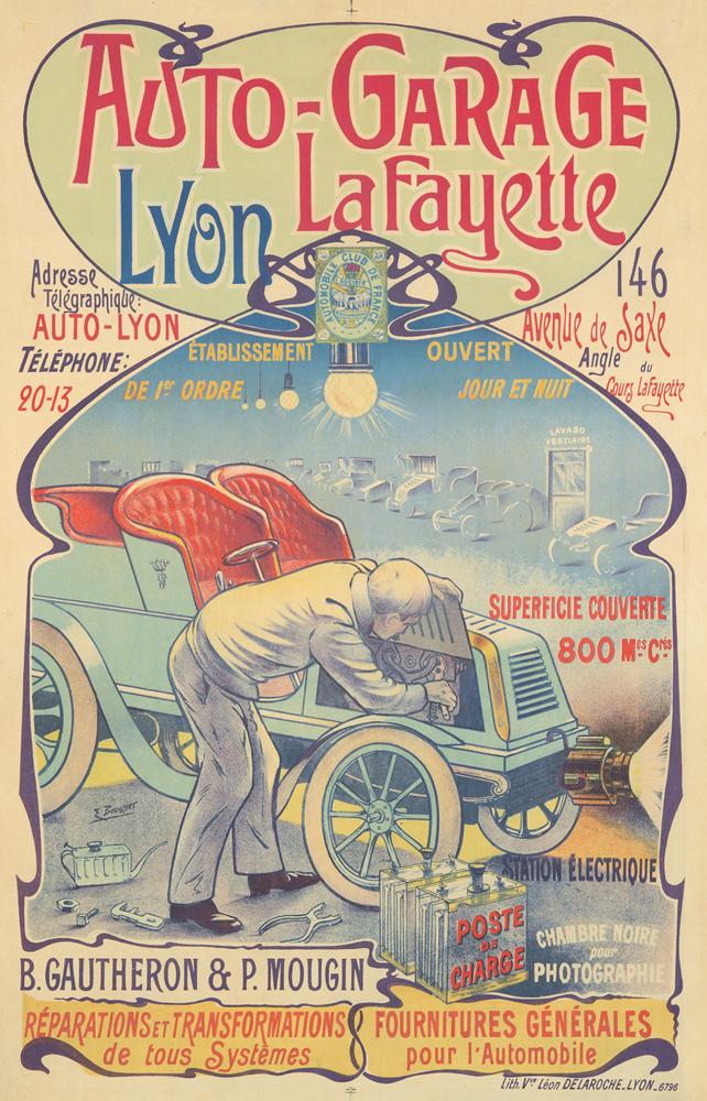 Auto-Garage Lafayette. ca. 1895
