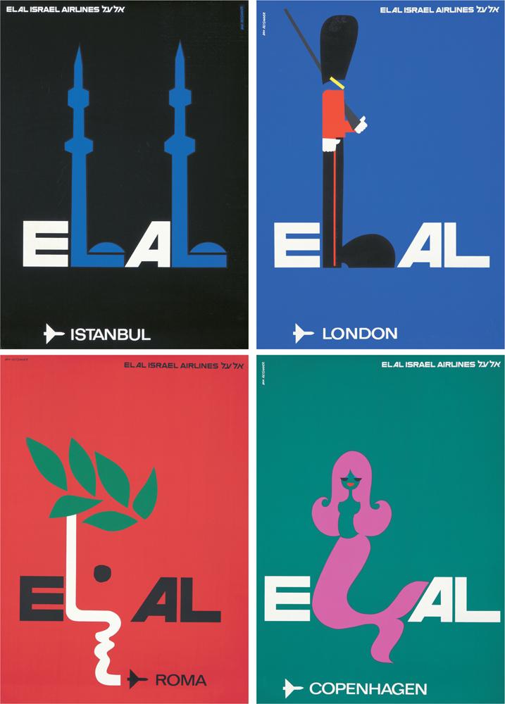 El Al: 4 Posters. 1968-1972