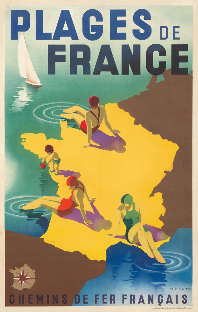 Plages de France. 1930