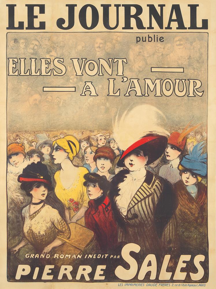 Le Journal / Elles Vont a l'Amour. ca. 1890