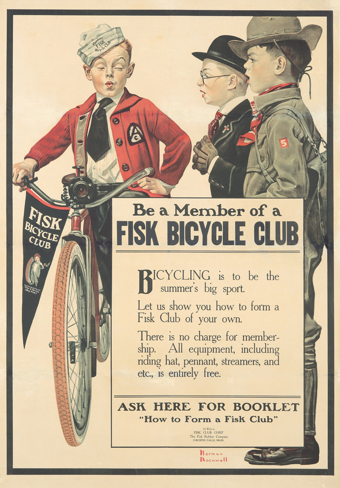 Fisk Bicycle Club. ca. 1917