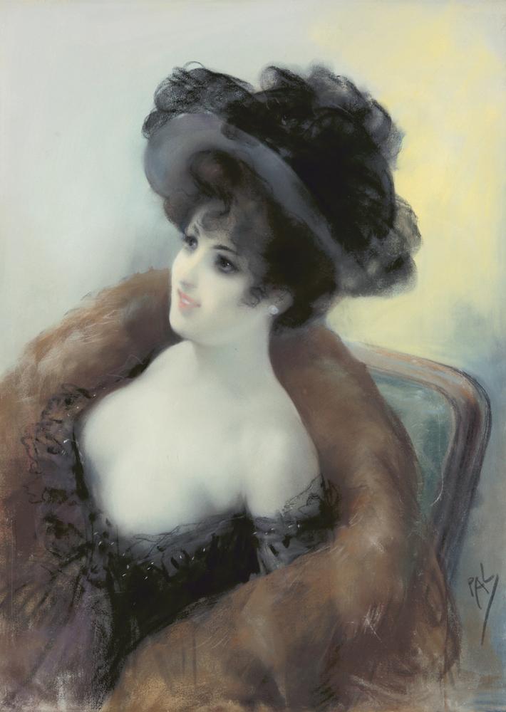 Femme dans un Chapeau. ca. 1898