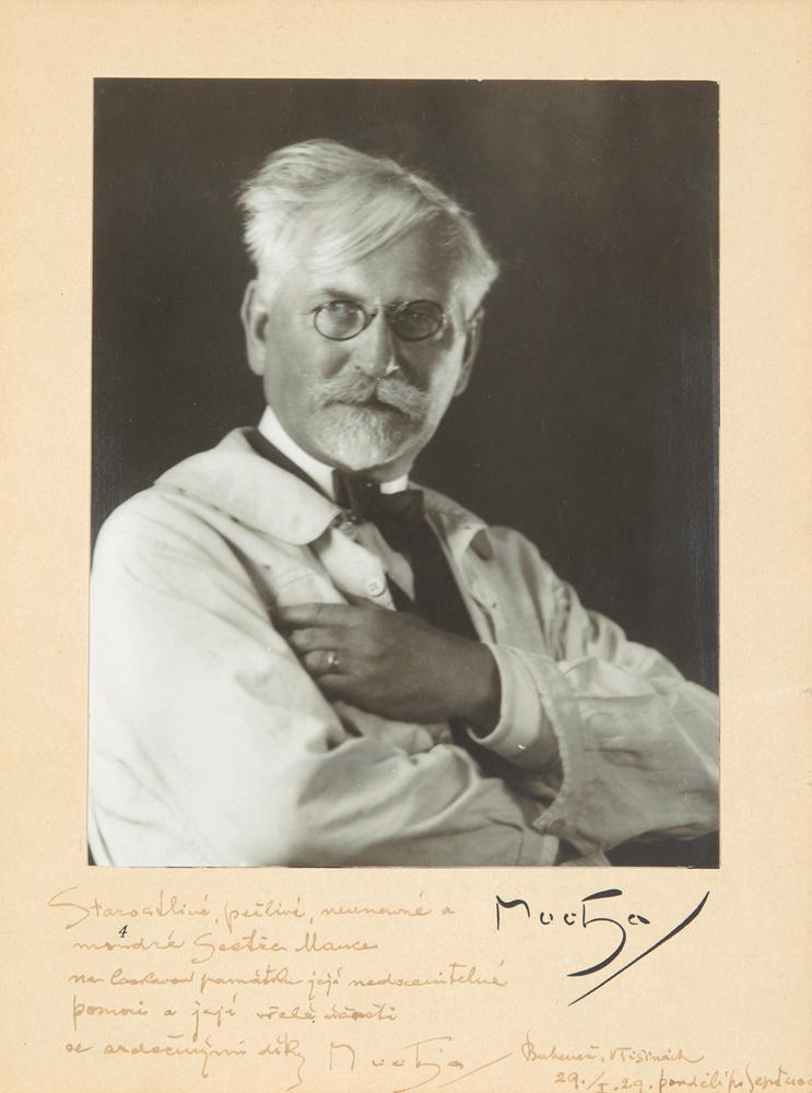 Alphonse Mucha: Signed Photo.  1929
