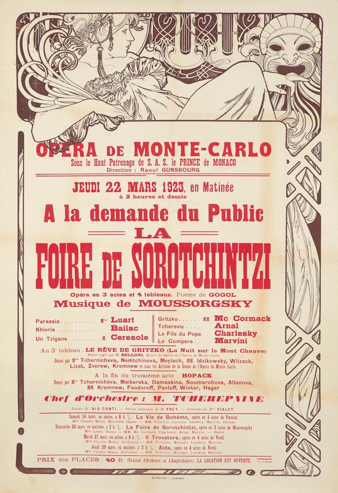 Opera de Monte-Carlo / Foire de Sorotchintzi. 1923