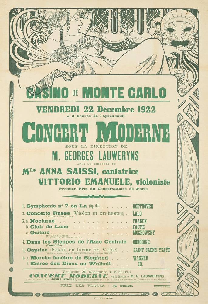 Casino de Monte Carlo.  1922