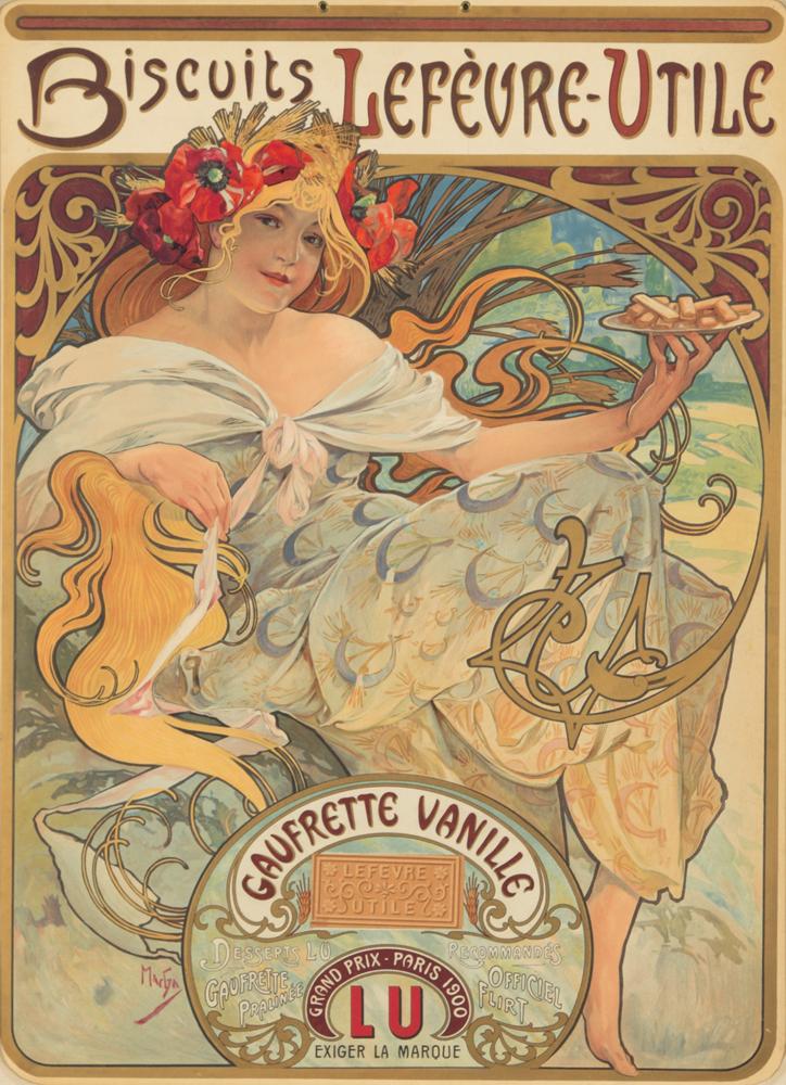 Biscuits Lefèvre-Utile / Gaufrette Vanille. 1900