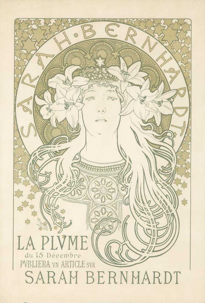 Sarah Bernhardt / La Plume. 1896