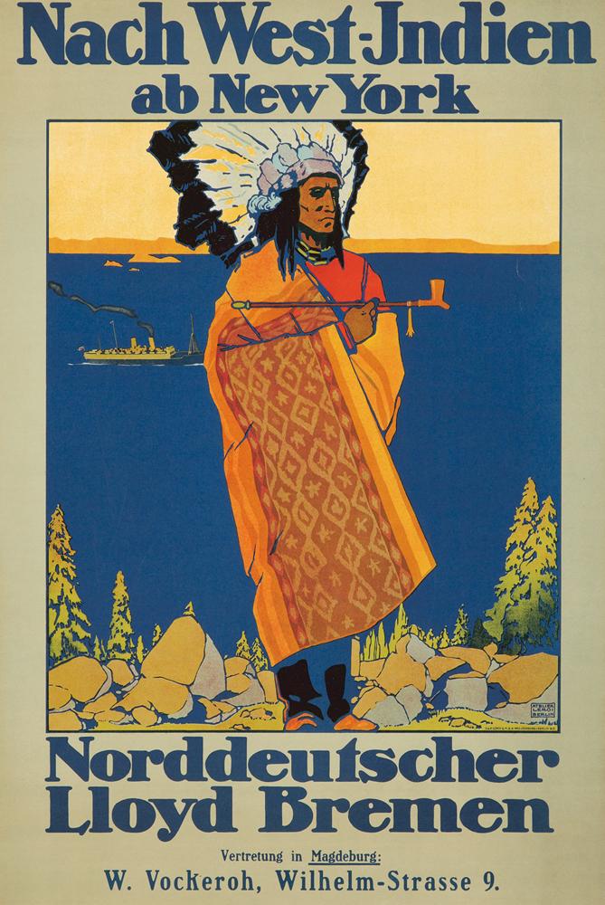 Nach West-Indien / Norddeutscher Lloyd Bremen. ca. 1920