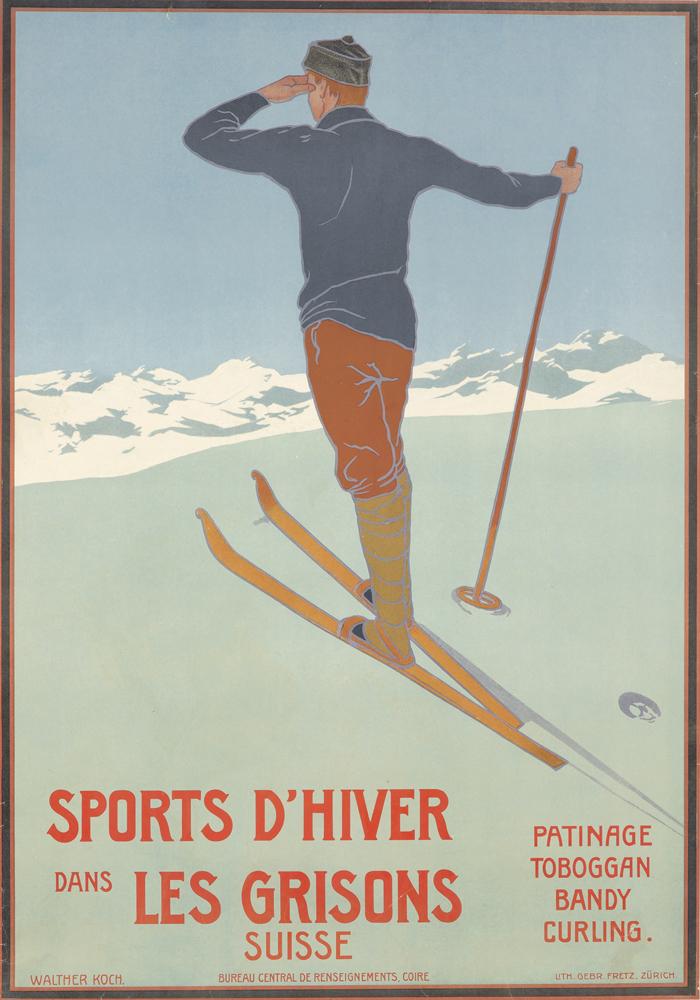 Sports d'Hiver dans les Grisons. ca. 1911