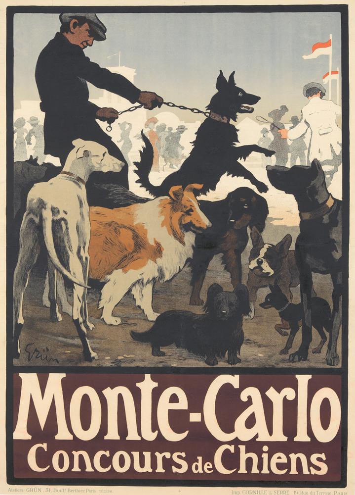 Monte-Carlo / Concours de Chiens. ca. 1905