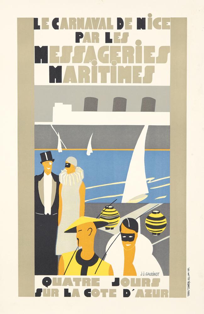 Le Carnaval de Nice / Messageries Maritimes. ca. 1922