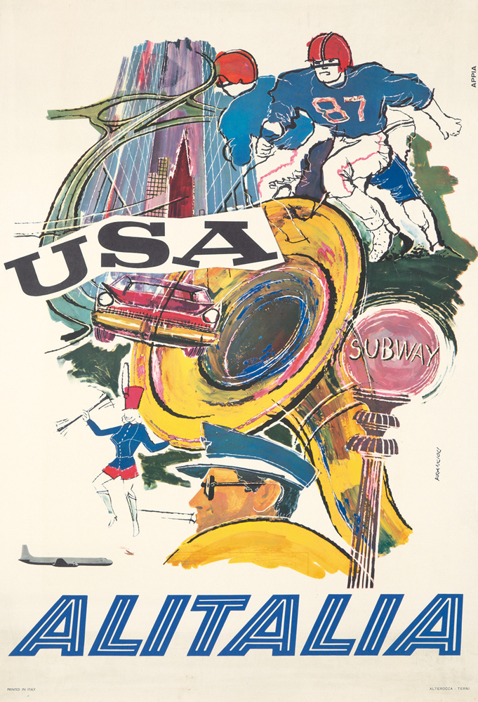 Alitalia / USA. ca. 1960