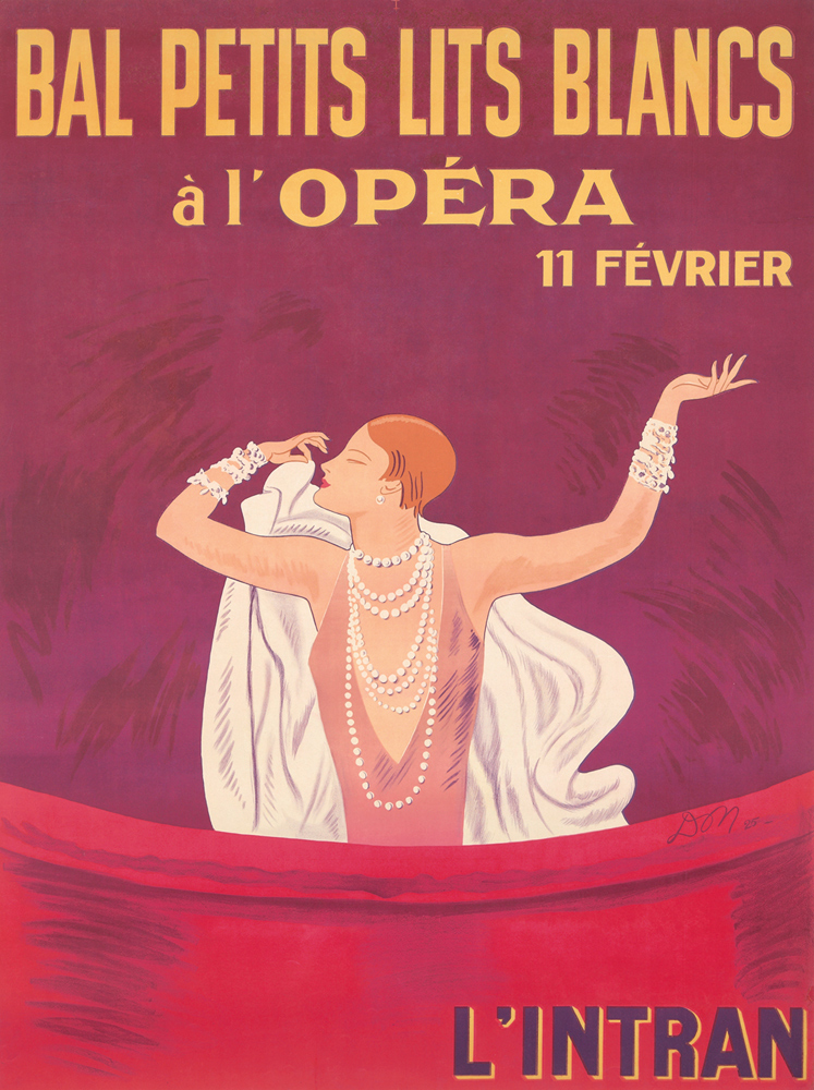 Bal Petits Lits Blancs à l'Opéra. 1925