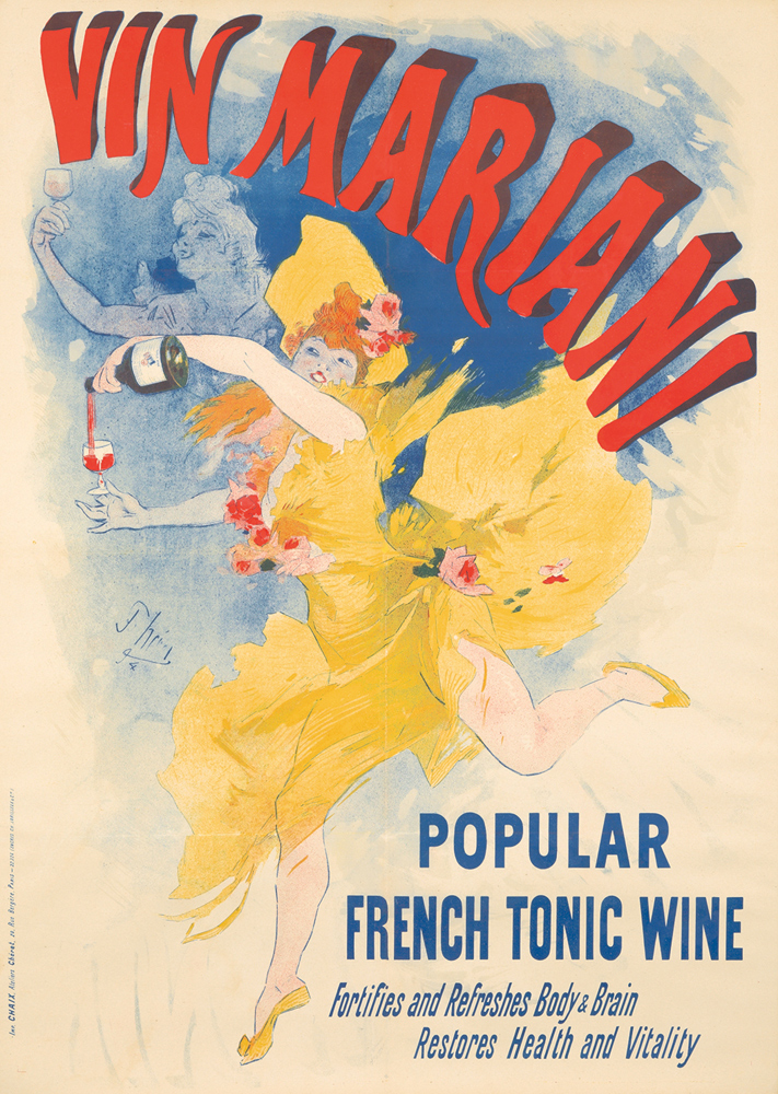 Vin Mariani / Popular French Tonic Wine. 1894
