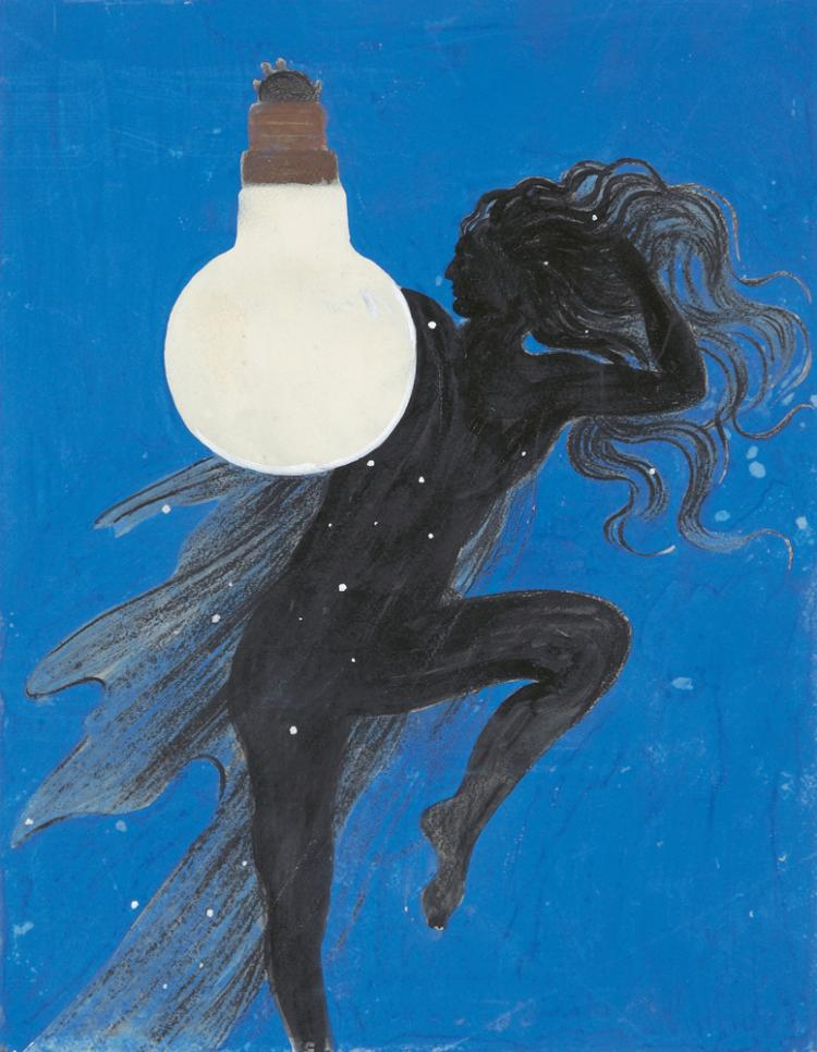 Lampe Electrique. 1924